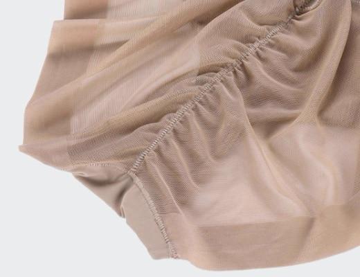 Finition détaillée de la culotte amincissante