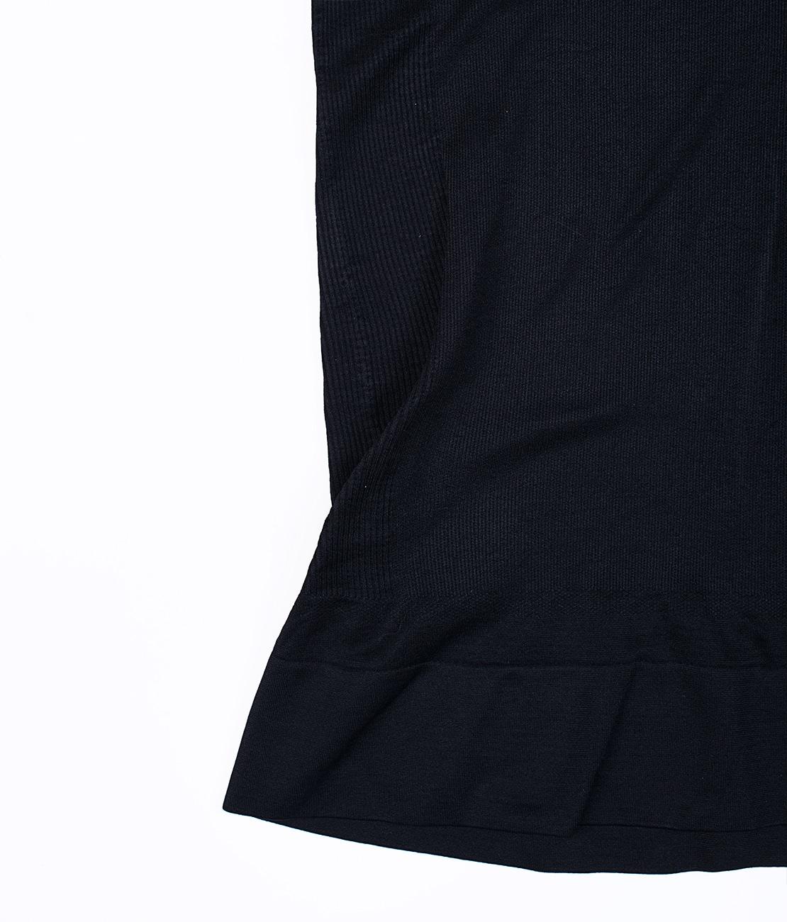 T Shirt Amincissant Noir Packshot Detail 1