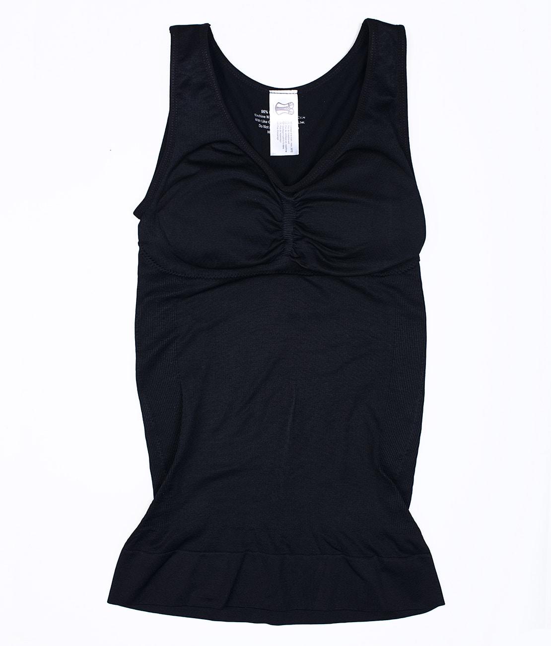 T Shirt Amincissant Noir Packshot Front