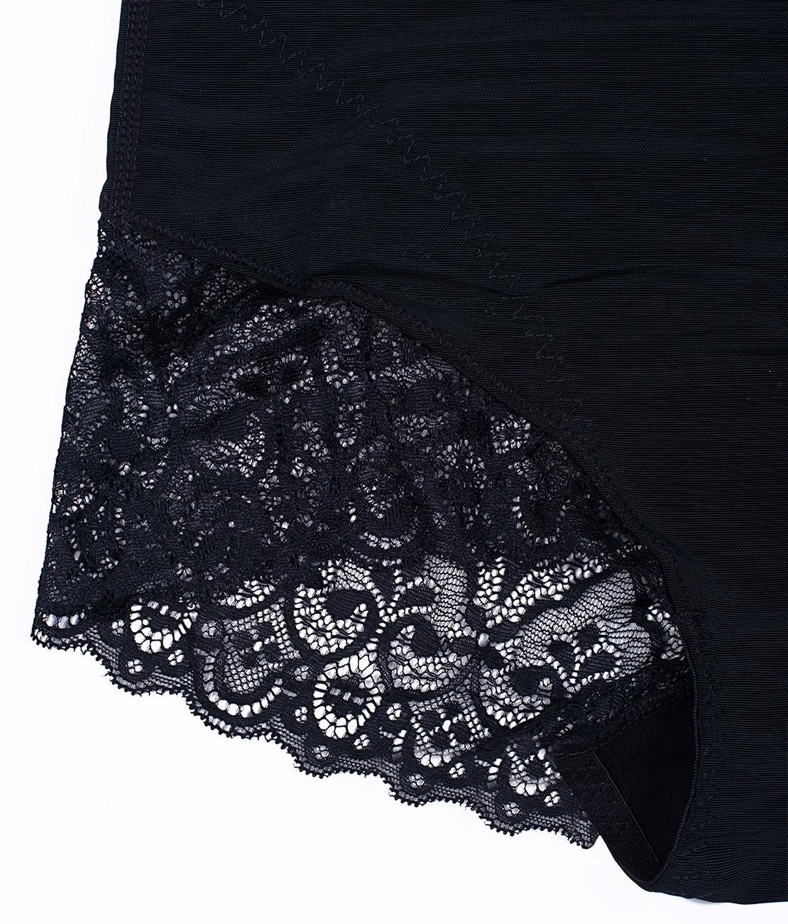 Shorty Amincissant Sexy Noir Packshot Detail 1