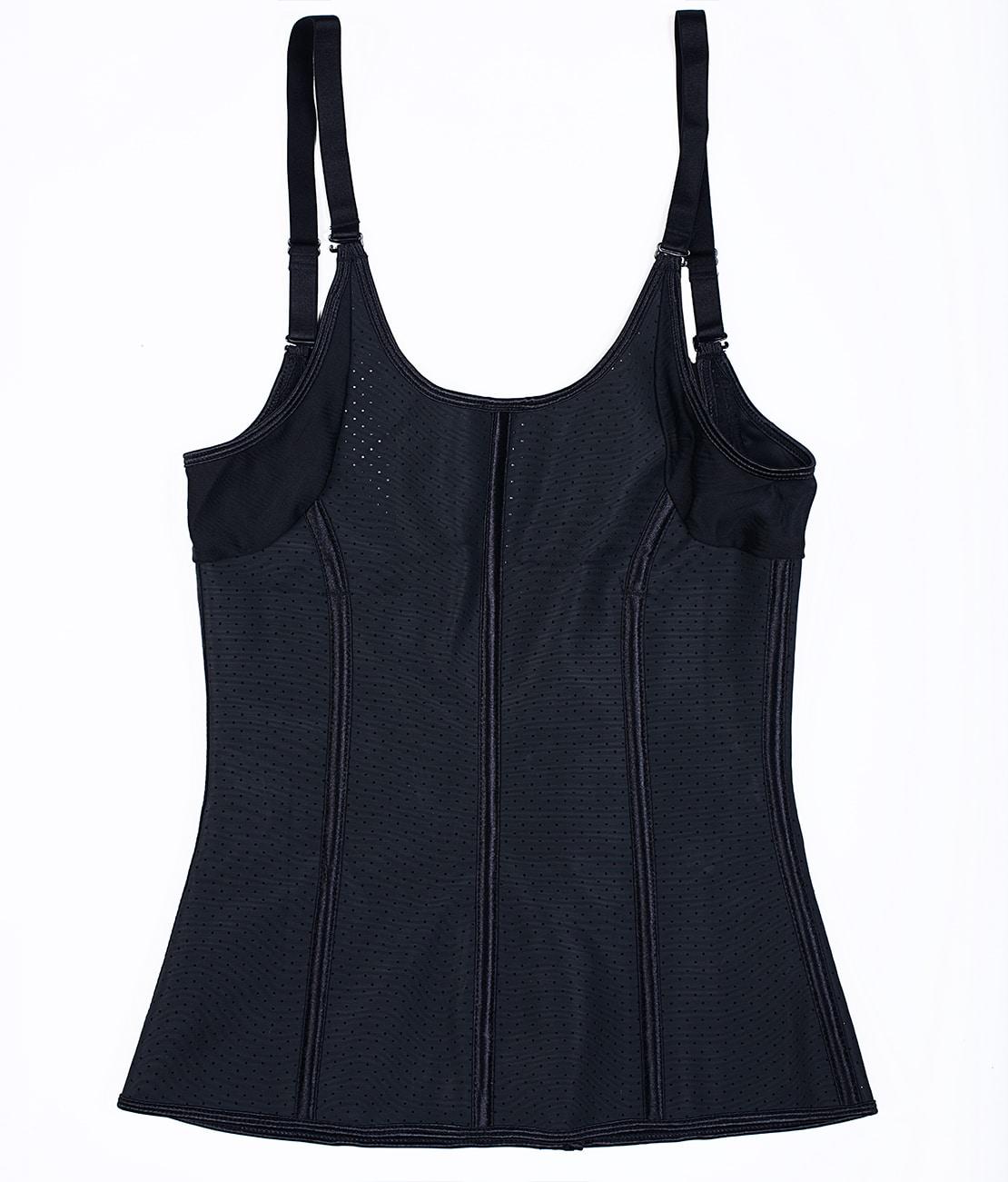Corset Latex Grand Confort Noir Packshot Back