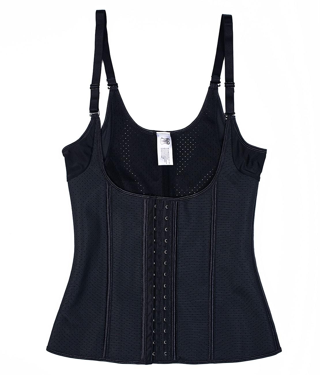 Corset Latex Grand Confort Noir Packshot Front
