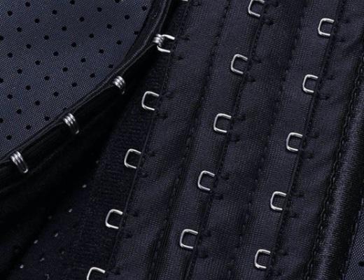 corset latex grand confort noir detail b
