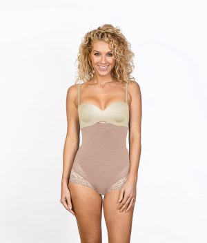 Shorty Amincissant Sexy Beige Front ok