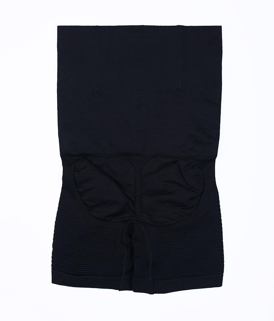 Panty Nid d'abeille Noir Packshot Back
