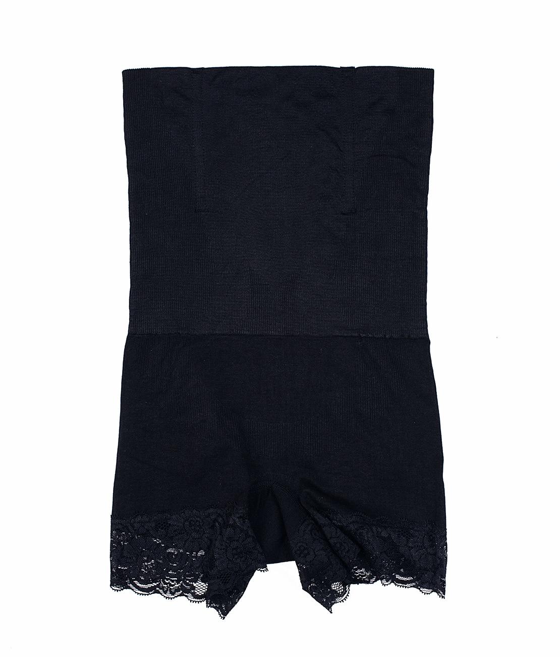 Panty Taille Haute Noir Packshot Front
