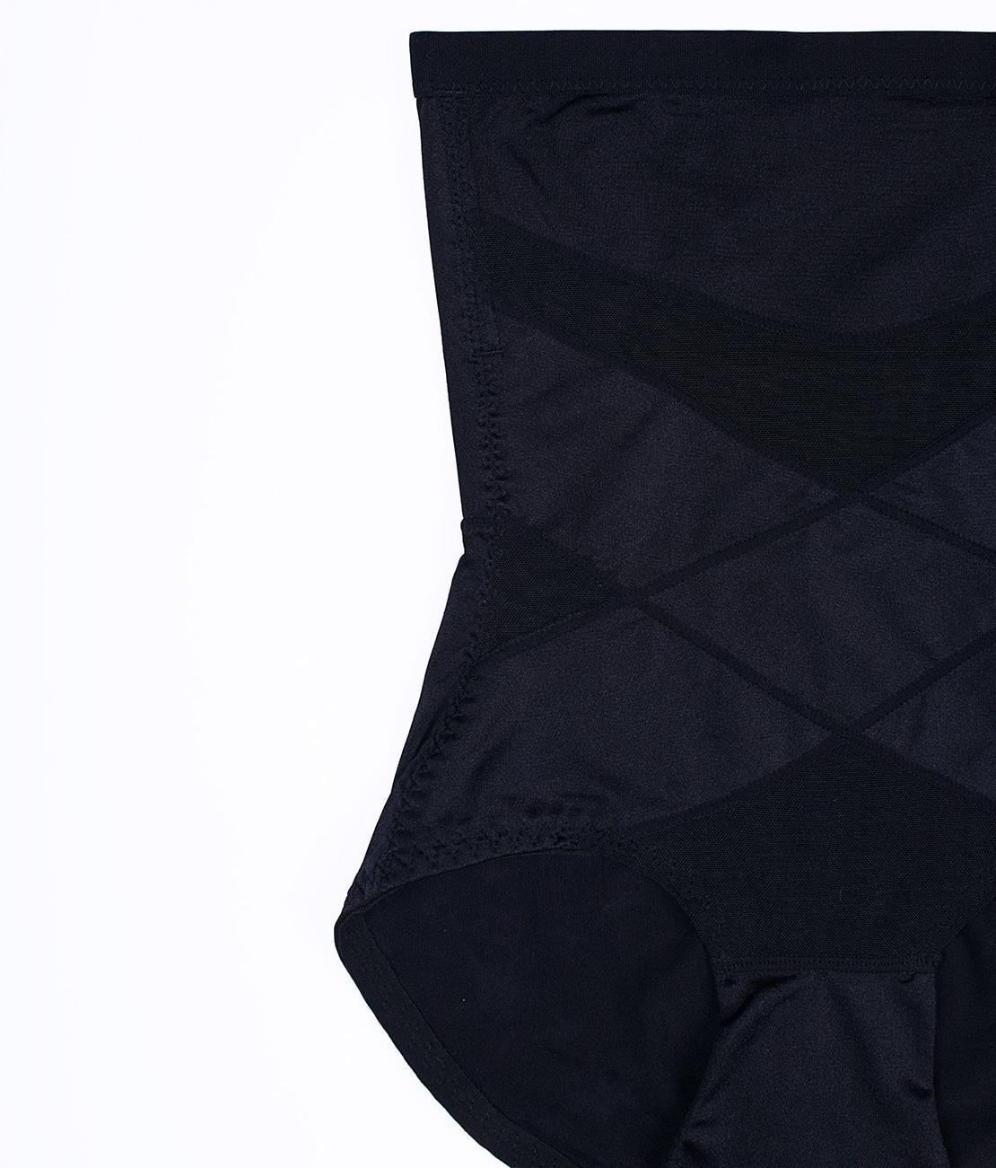 Culotte gainante soyeuse Noire Detail 3