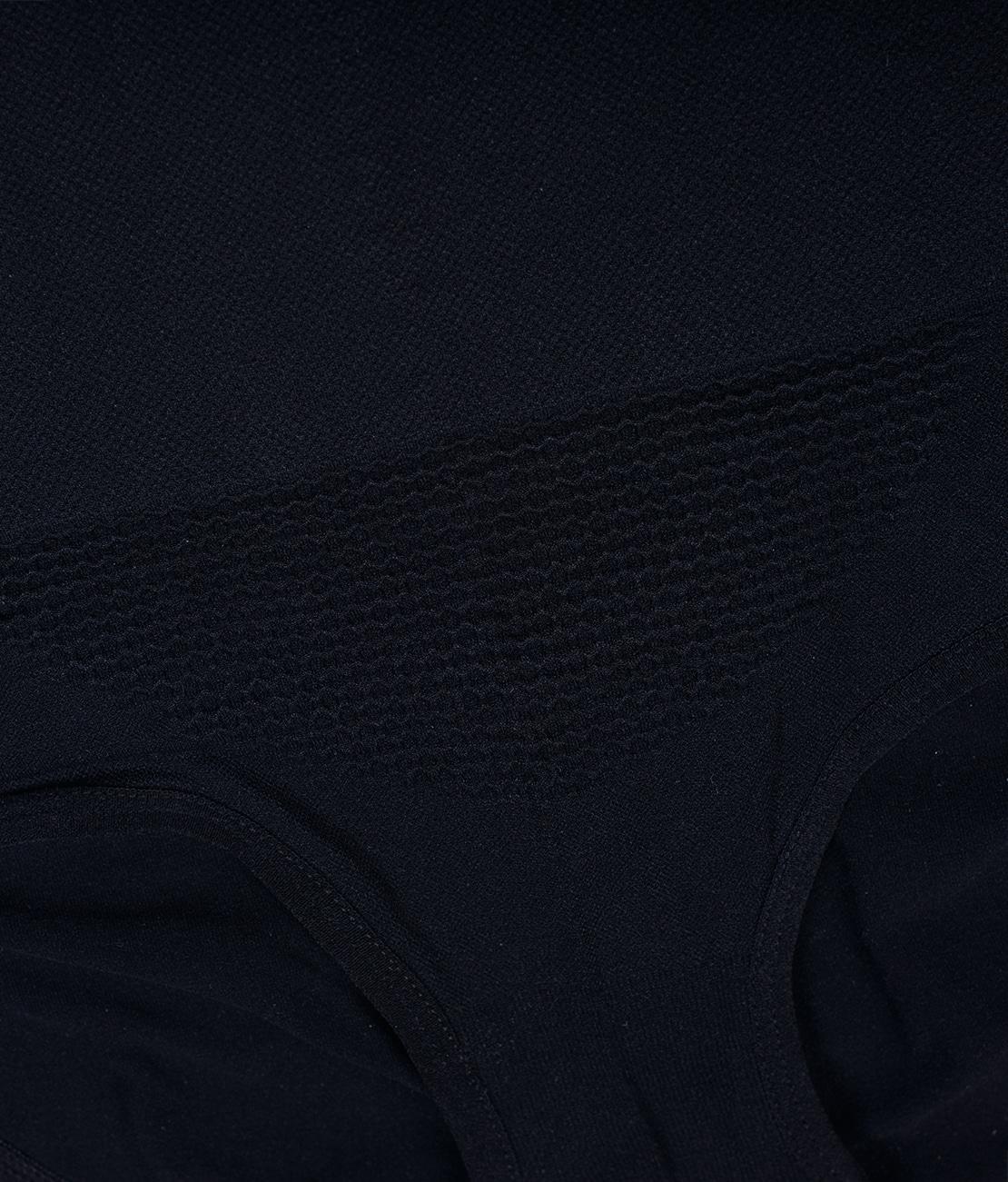 Culotte Taille Haute Noire Packshot Detail 2