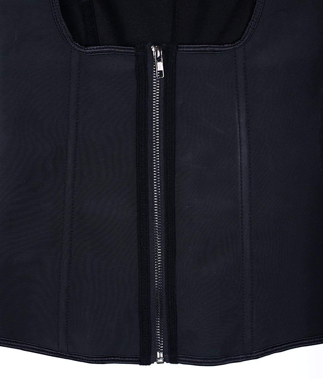 Corset Latex Remodelant Noir Packshot Detail 1
