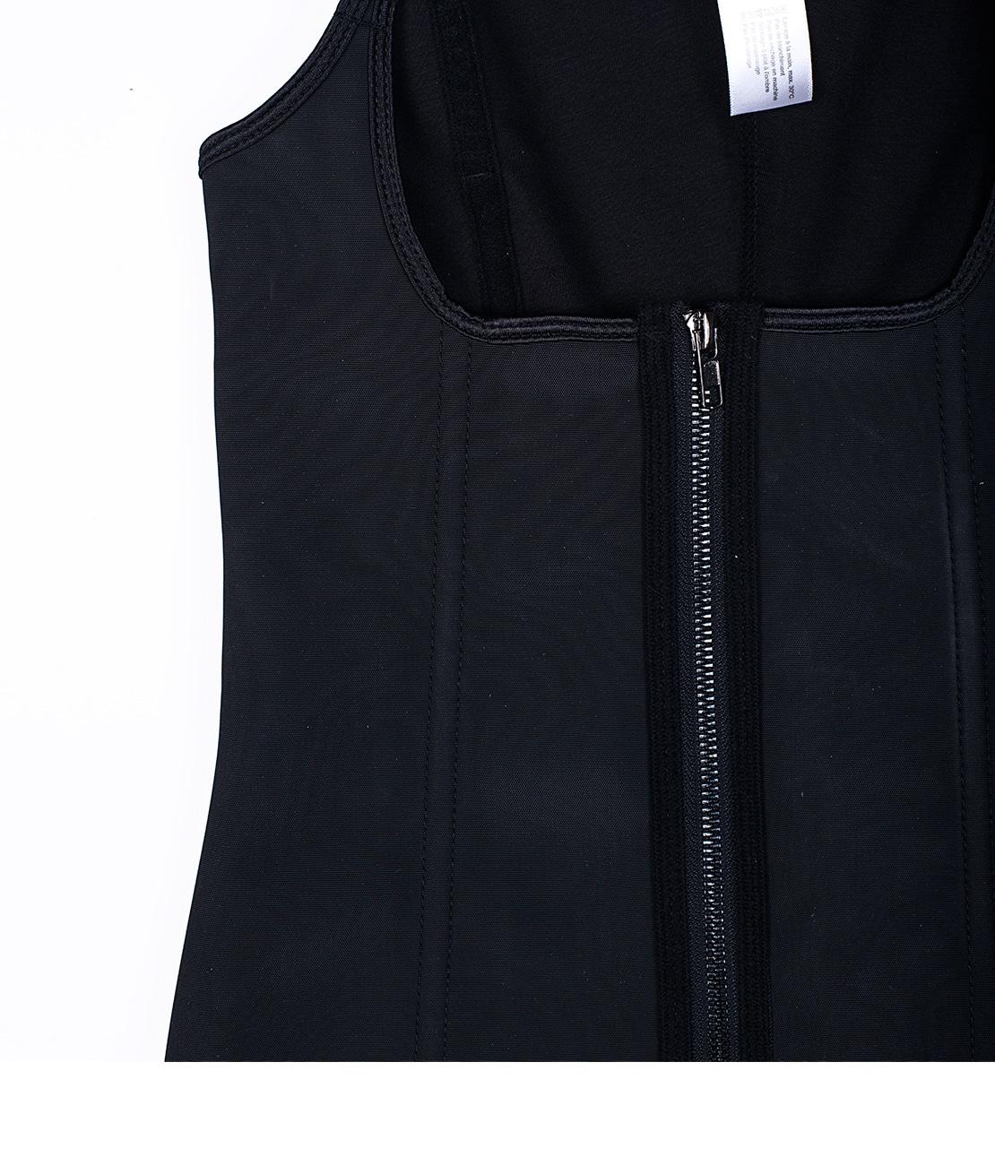 Corset Latex Remodelant Noir Packshot Detail 2