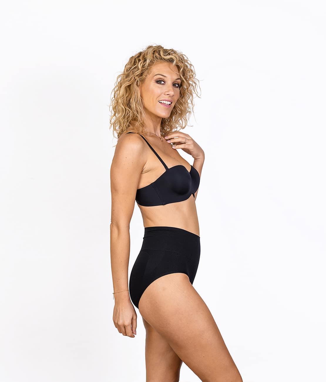 Culotte Taille Haute Noire Profil