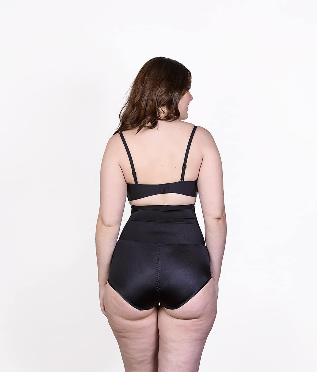 Culotte gainante soyeuse Noire Dos