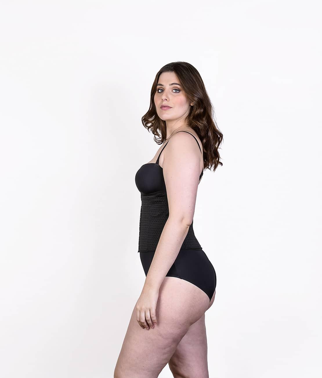 Gaine Taille Fine Noir Profil
