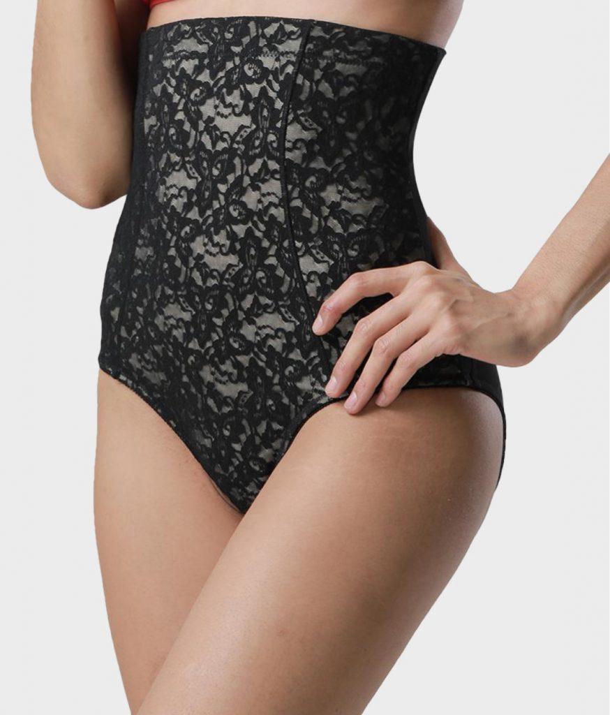 Culotte gainante dentelle noir