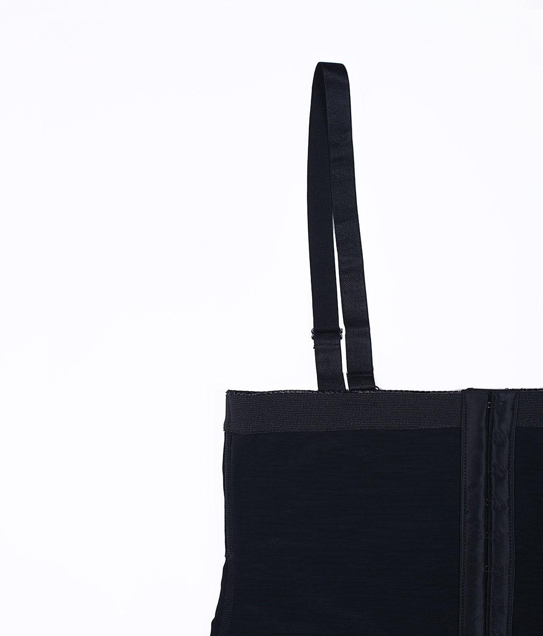 Combinaison Gainante Dentelle Noire Packshot Detail 2